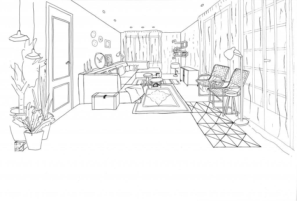 interieurontwerp maart 2015 3D tekening door www.toetonen.nl