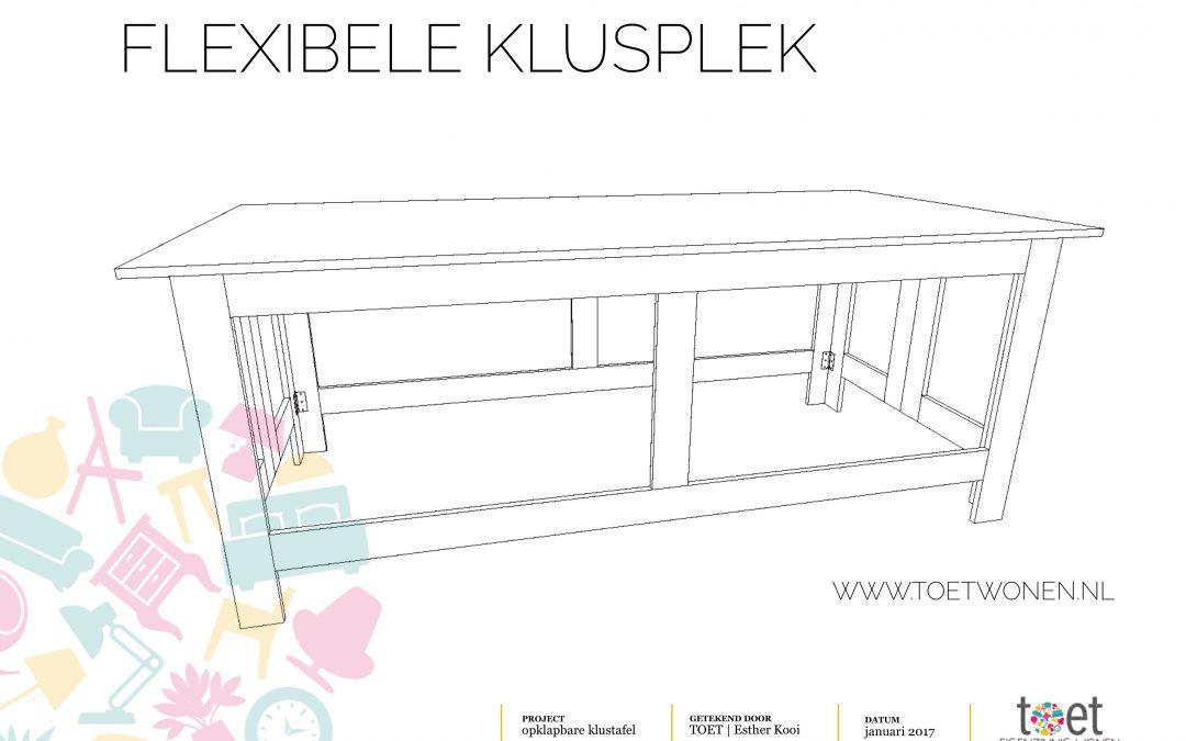 DIY 'flexibele klustafel'